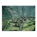 Ruinas del inca, Pisac, Perú Tarjeta Postal