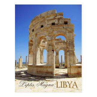 Ruinas del mercado, Leptis Magna, Libia Tarjeta Postal