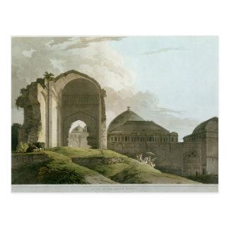Ruinas del palacio en Madurai Postal