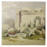Ruinas del pórtico del este del templo del Baal Azulejo Cuadrado Grande