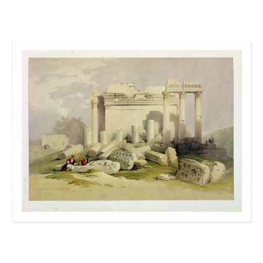 Ruinas del pórtico del este del templo del Baal Tarjetas Postales