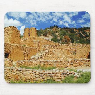 Ruinas del pueblo de Jemez, Jemez Springs, New Méx Alfombrilla De Ratones