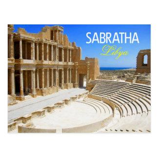 Ruinas del teatro de Sabratha, Libia Postal