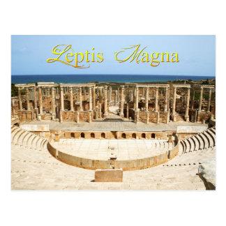 Ruinas del teatro en Leptis Magna Libia