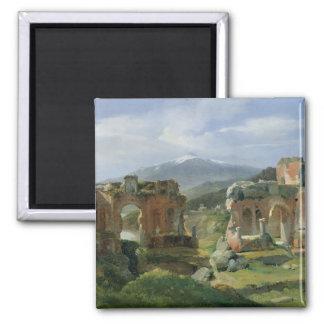 Ruinas del teatro en Taormina Imán Cuadrado