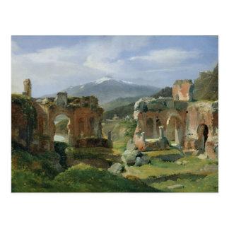 Ruinas del teatro en Taormina Postal