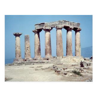 Ruinas del templo de Apolo, c.550 A.C. Postal