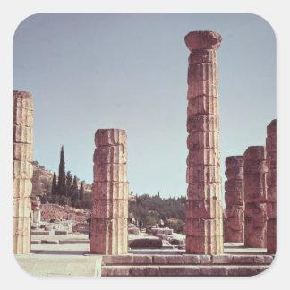 Ruinas del templo de Apolo Pegatina Cuadrada