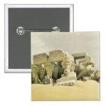 """Ruinas del templo de Kom Ombo, de """"Egipto y de N Pin Cuadrada 5 Cm"""