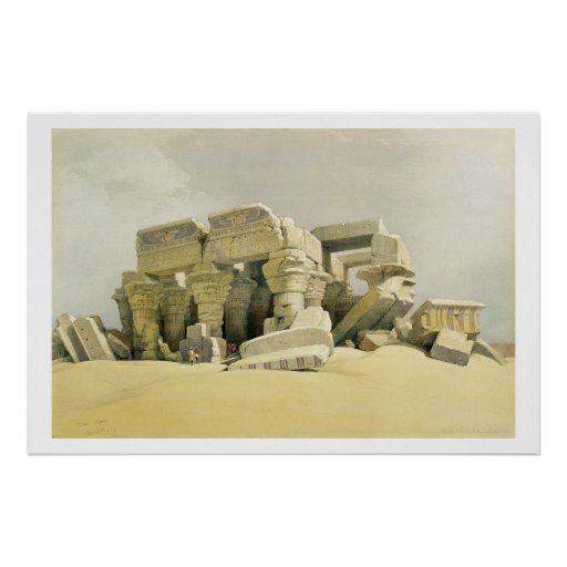 """Ruinas del templo de Kom Ombo, de """"Egipto y de N Póster"""