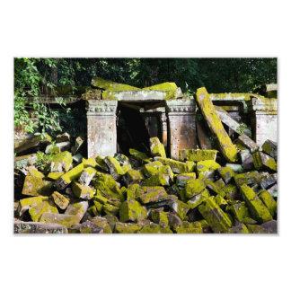 Ruinas del templo en Camboya Cojinete
