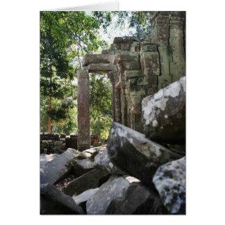 Ruinas del templo tarjeta de felicitación