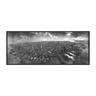Ruinas del terremoto de San Francisco del panorama Impresiones De Lienzo