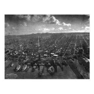 Ruinas del terremoto de San Francisco del panorama Postal