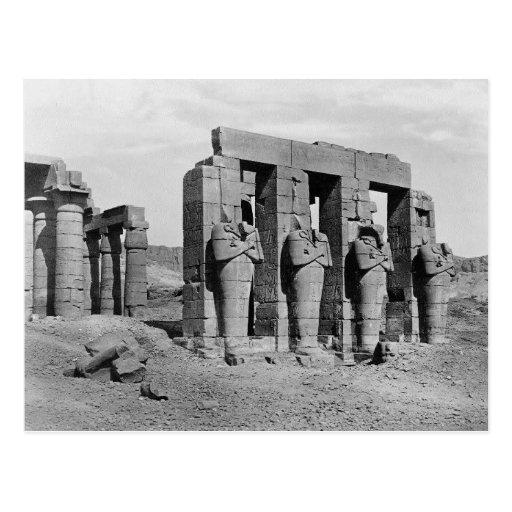 Ruinas del vintage de Ramesseum Egipto Postales