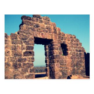 Ruinas en el fuerte Goa la India de Aguada Postales