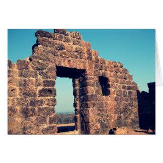 Ruinas en el fuerte Goa la India de Aguada Tarjeta De Felicitación