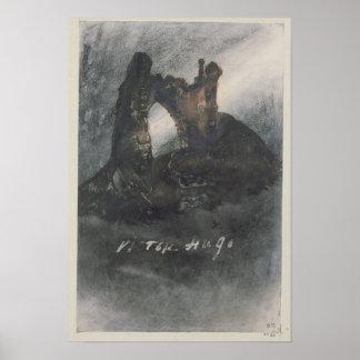 Ruinas en Groz-Nez, el jersey, o el arco Poster