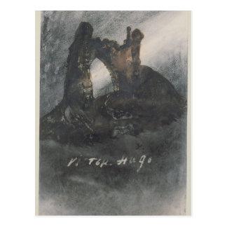 Ruinas en Groz-Nez el jersey o el arco Tarjeta Postal