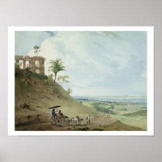Ruinas en Pir Pihar, cerca de Monghy, Bihar, 1790  Póster