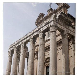 Ruinas en Roma, Italia 2 Azulejo Cuadrado Grande