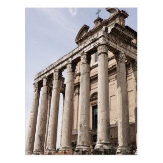 Ruinas en Roma, Italia 2 Postal