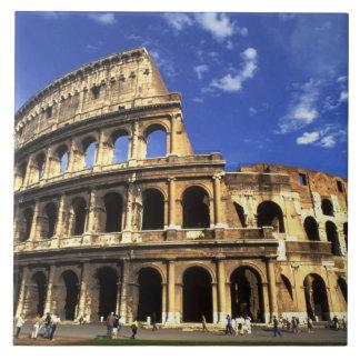 Ruinas famosas del coliseo en Roma Italia Azulejo Cuadrado Grande