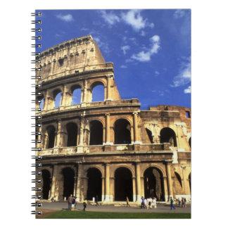 Ruinas famosas del coliseo en Roma Italia Cuaderno