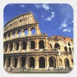 Ruinas famosas del coliseo en Roma Italia Colcomanias Cuadradas