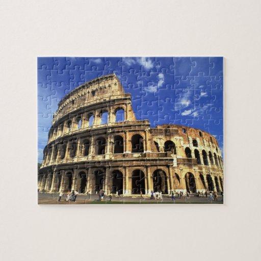 Ruinas famosas del coliseo en Roma Italia Puzzle