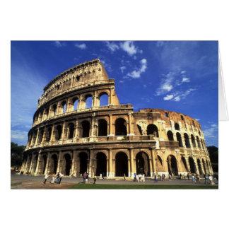 Ruinas famosas del coliseo en Roma Italia Tarjeta De Felicitación