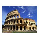 Ruinas famosas del coliseo en Roma Italia Tarjeta Postal