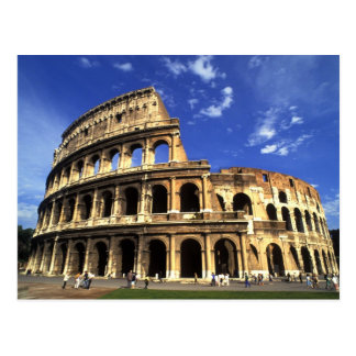 Ruinas famosas del coliseo en Roma Italia Postal