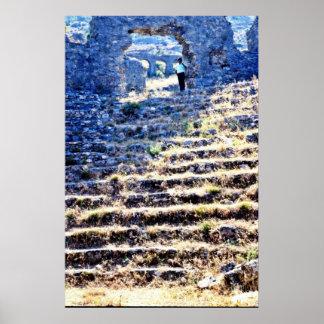 Ruinas grecorromanas en la costa de la turquesa posters