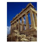 Ruinas griegas, acrópolis, Grecia Postal