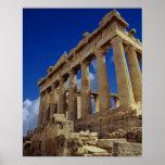Ruinas griegas, acrópolis, Grecia Póster