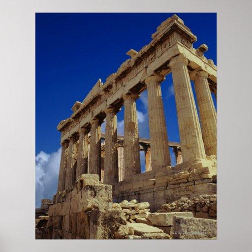 Ruinas griegas, acrópolis, Grecia Posters