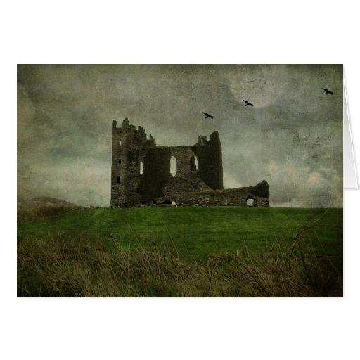 Ruinas irlandesas del castillo tarjetas