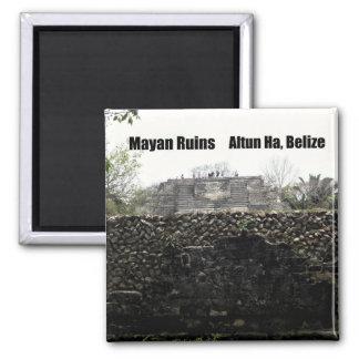 Ruinas mayas, Altun ha, Belice Imán Cuadrado
