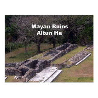 Ruinas mayas, Altun ha Postal