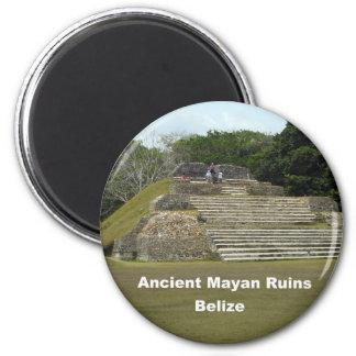 Ruinas mayas antiguas, Belice Imán Redondo 5 Cm