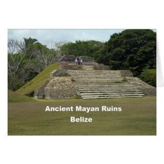 Ruinas mayas antiguas, Belice Tarjeta De Felicitación