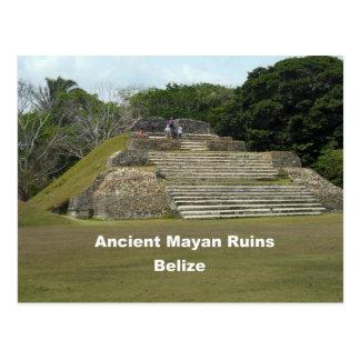 Ruinas mayas antiguas, Belice Tarjeta Postal