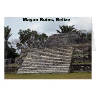 Ruinas mayas, Belice Tarjeta De Felicitación