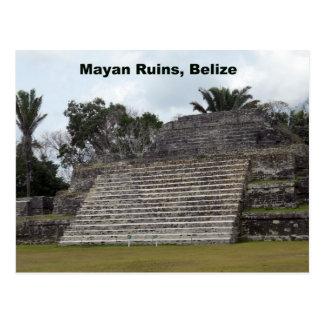 Ruinas mayas, Belice Tarjeta Postal