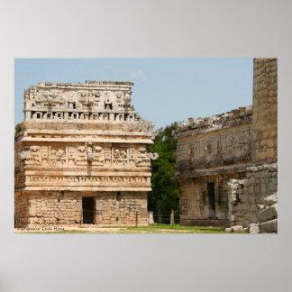 """Ruinas mayas de Chichen Itza, """"el convento de monj Póster"""