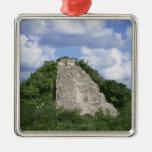 Ruinas mayas de Coba, península del Yucatán, Adorno Navideño Cuadrado De Metal
