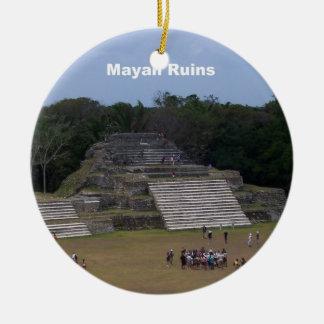 Ruinas mayas ornamentos de reyes