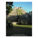 Ruinas mayas en Yaxha, Guatemala Posters