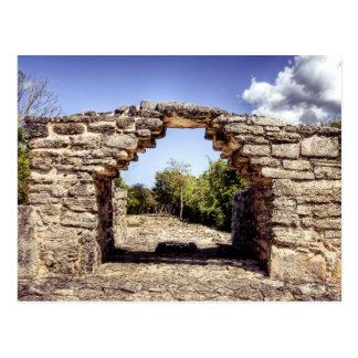 Ruinas mayas postal